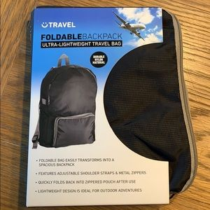 Travel Foldable Backpack Ultra-Lightweight NWT